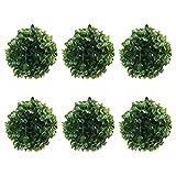 EXCEART 6 Pcs Boule Topiaire Boule de Buis Artificielle Topiaire Plante Topiaire Arbre Substitut Intérieur Extérieur Mariage Décor