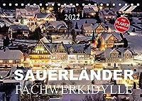 Sauerlaender Fachwerkidylle (Tischkalender 2022 DIN A5 quer): Fachwerkhaeuser im Sauerland (Geburtstagskalender, 14 Seiten )