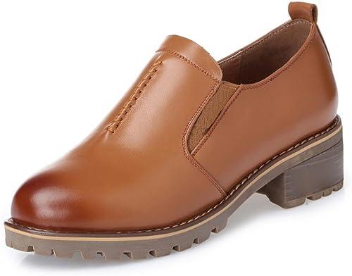 Chaussures pour femmes de printemps chaussures plates chaussures pointues pointues chaussures de sport , marron , US8   EU39   UK6   CN39  plus d'escompte
