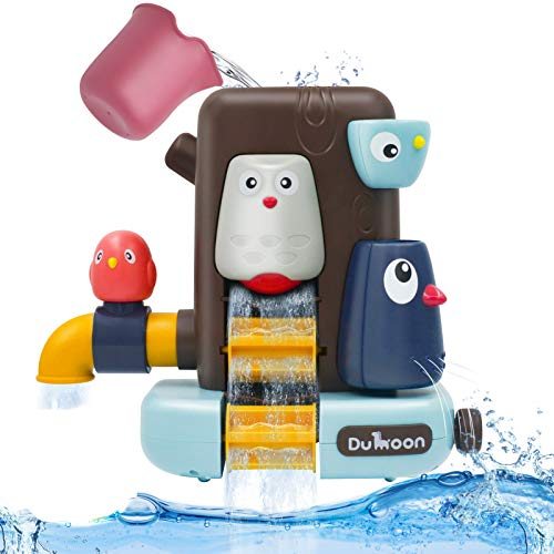 OYEL Bath Toys for Toddlers Age 1 2 3 Year Old Boys Girls,Preschool New Born Baby Shower Wall-Mounted Water Toy with Tree House & Cup for Any Size Tub Wall,Interactive Bathtub Toys for Kids Kiddie