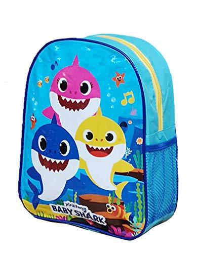 Official Licensed Kids Boys & Girls School Backpack with Side Mesh Pocket (Baby Shark)