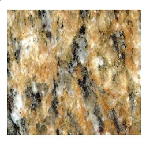 "EZ FAUX DECOR Instant Venetian Gold/Santa Cecilia Marble Granite Countertop Film Self Adhesive Vinyl Paper Laminate Counter Top Peel and Stick 36"" x 144"""