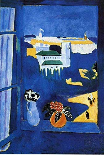 GEZHF Henry Matisse Der Blick aus dem Fenster Tanger DIY-Gemälde nach Zahlen für Erwachsene und Kinder Kunsthandwerk für Wohnwanddekoration - 16 x 20 Zoll (ohne Rahmen)