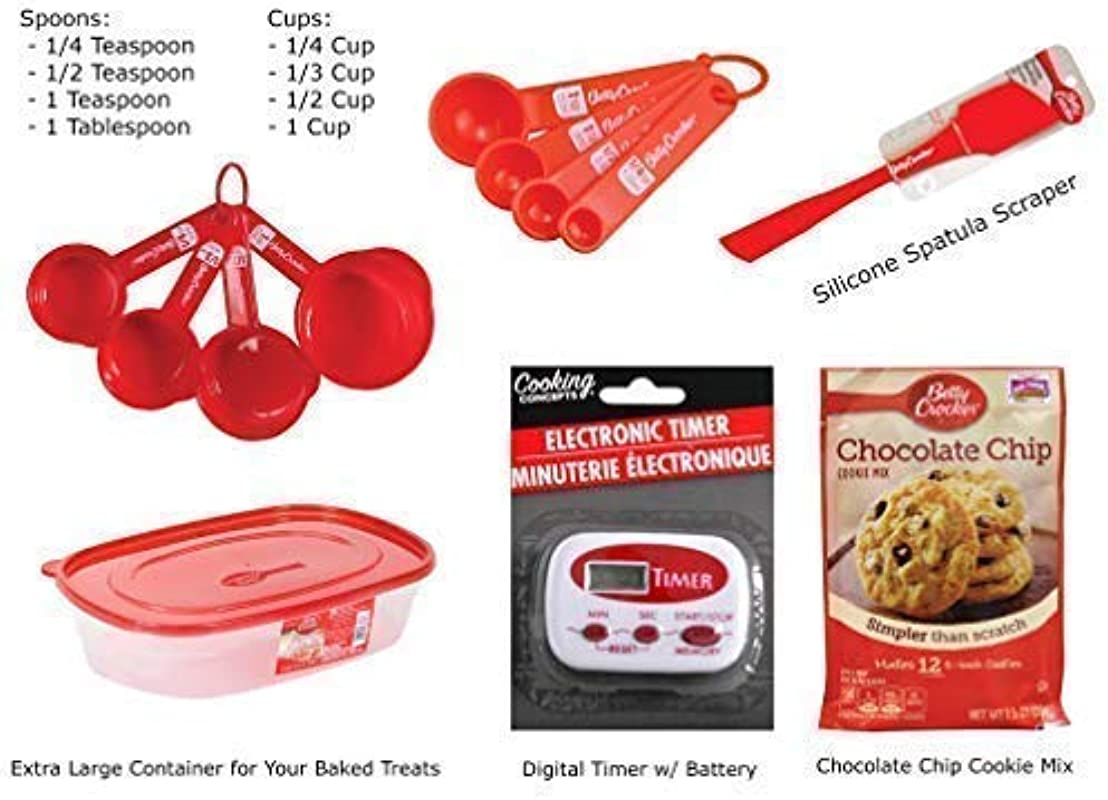 Betty Crocker 6 Piece Cookie Baking Set Kit Perfect For Holiday Birthday Party Gift Set