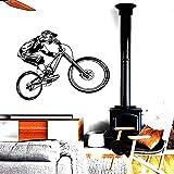 WERWN Pegatinas de Pared de Vinilo para Bicicleta de montaña, Deportes Extremos, Todoterreno, Moderno, Garaje, Dormitorio, decoración del hogar