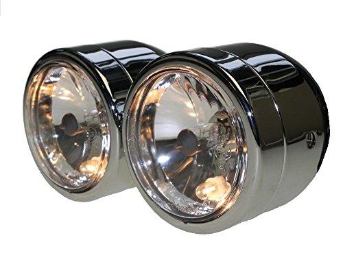 Doppel-Scheinwerfer Chrom mit E-Nummer H7 & H4 55/60W für Honda CB 600, CB 900 Hornet CB600 CB900