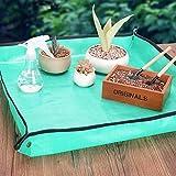 YYNN GardenPR Transplanting Pad, Mini Gardening Succulent Transplanting Plants Hand Tools Set, for Indoor Miniature Fairy Garden Plant Care, Potting, Cactus, Houseplant, Bonsai Tools Kit
