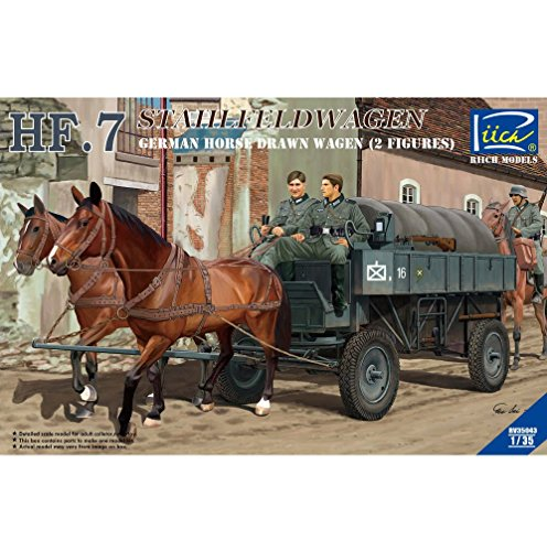 Riich Models rv35043 – Véhicule – 1/35 HF. 7 Acier Champ Chariot avec 2 Figurines