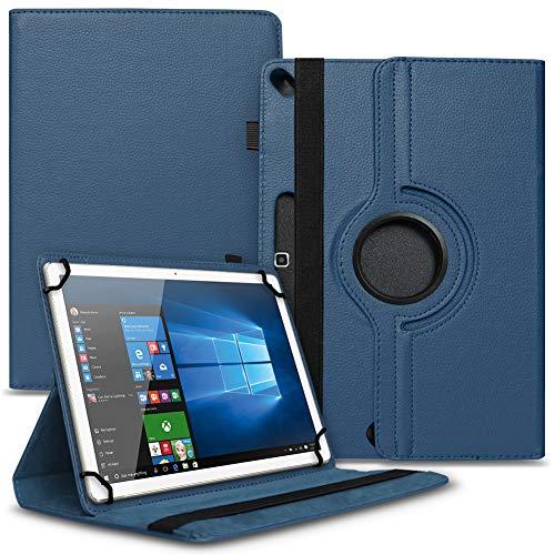 Tablet Schutz Hülle kompatibel für Vankyo MatrixPad S10 Schutzhülle Tasche Kunstleder 10.1 Zoll Hülle mit Standfunktion 360° Drehbar, Farben:Blau