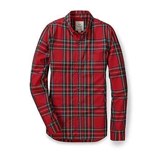 Hope & Henry Men's Long Sleeve Cotton Poplin Button Down Shirt