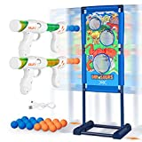 YXwin Shooting Game Boys Toys for Age 5 6 7 8 9 10+ Kids Teen Toy Dinosaur Moving Charging Shooting Target with 18 Foam Balls Outdoor/Indoor Ideal Gift Christmas Stocking Stuffers