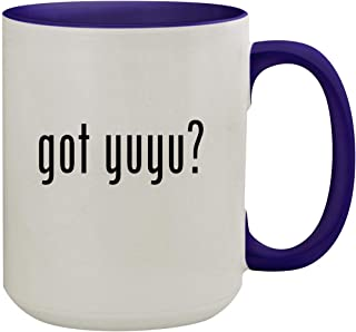 got yuyu? - 15oz Ceramic Inner & Handle Colored Coffee Mug, Deep Purple