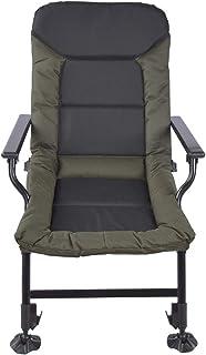 Ejoyous Vikbar fiskfåtölj, 1-delad multifunktionell karpstol campingstol utomhus fiske camping vandring fåtölj, vikbar säk...