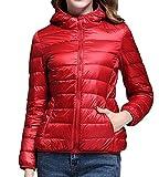 MYMYU Women's Down Jacket - Manteau pour Les Voyages, la randonnée, l'escalade, Le...