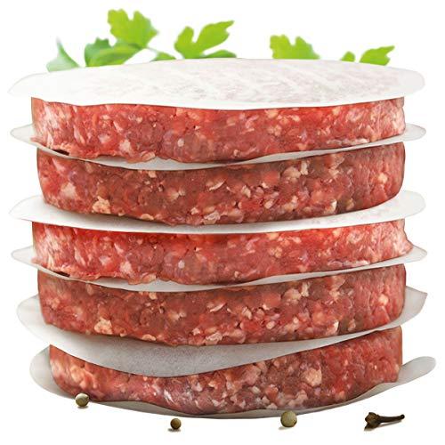INT.rend–Práctico Burger Papel para perfecta Burger patties | 500unidades Cera Papel 11cm de diámetro, Hamburger Papel encerada Hornear Grillen Freír Cocinar | Premium Barbacoa/Grill