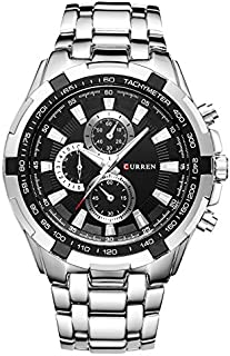 Curren Men's Black Dile Stainless Steel Watch 8023