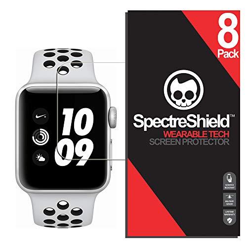 (8-pack) Spectre schermo per Apple Watch 42mm (Nike +, serie 3, 2, 1) (military-grade) flessibile copertura completa ultra HD pellicola trasparente antigraffio anti-bolle