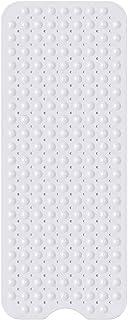 Hollylife Alfombra Antideslizante de Baño, Alfombrilla Grande de Bañera, 200 Fuertes Ventosas para Cuarto de Baño Ducha, 100 x 40 cm, Lavables a Máquina, Blanca