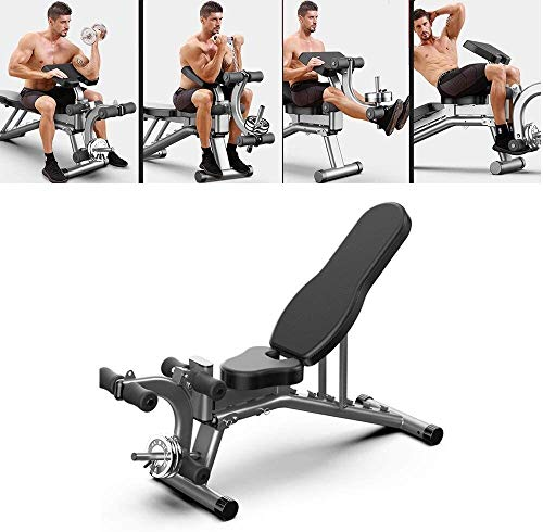 Cnley Commercial Training Dumbbell Bench Adjustable Weight Bench Foldable Full Body Workout Best Bench Incline Decline Push-ups Stretching Sit-ups Lifting Dumbbells for Home Gym, Small Apartment