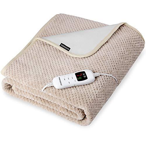 Heizdecke Wärmedecke 150x80cm Abschaltautomatik 3 lagig 7 Heizstufen waschbar Wärmeunterbett Wärmebett Unterdecke Single