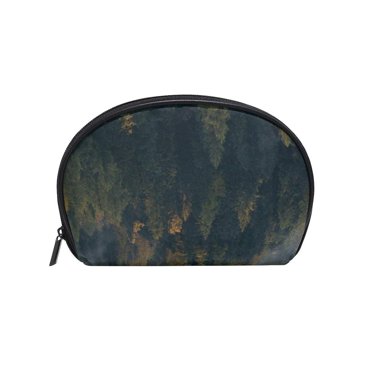 手段どこでもランドリーフォギー 森 半月 化粧品 メイク トイレタリーバッグ ポーチ 旅行ハンディ財布オーガナイザーバッグ