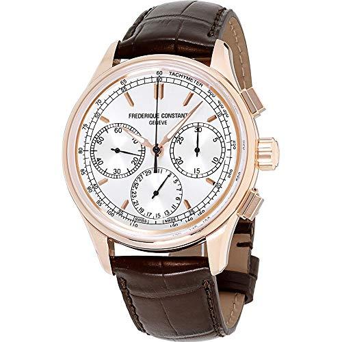Frederique Constant Silver Dial Leather Strap Men's Watch FC-760V4H4