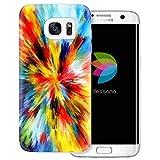 dessana Farb Mix Abstrakt transparente Schutzhülle Handy Case Cover Tasche für Samsung Galaxy S7 Edge Farb Mischung