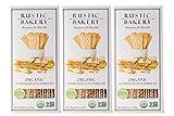 Rustic Bakery Gourmet Handmade Sourdough Flatbread Rosemary & Olive Oil 6 oz. (Pack of 3) in Intfeast Packaging