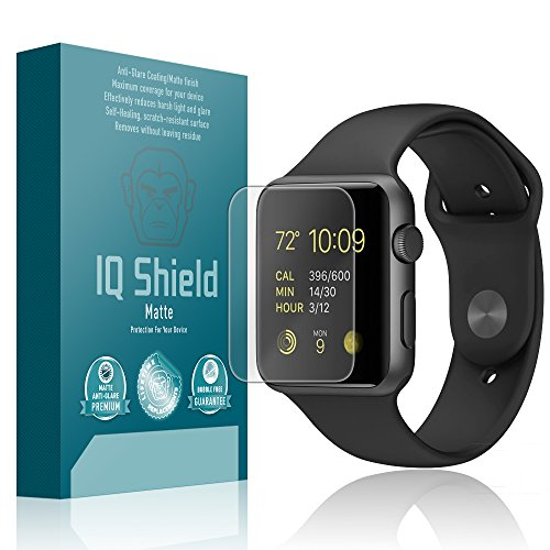 IQ Shield Matte Screen Protector Compatible with Apple Watch Series 1 (42mm)(6-Pack) Anti-Glare Anti-Bubble Film