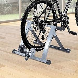 Rodillo Entrenamiento Bicicleta Acero Cicloentrenador Gris Bici Interior Ciclismo