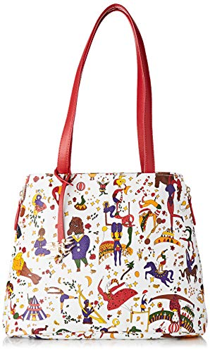 piero guidi Shopping Bag, Borsa a Spalla Donna, Bianco (Bianco), 32x25,5x14 cm (W x H x L)