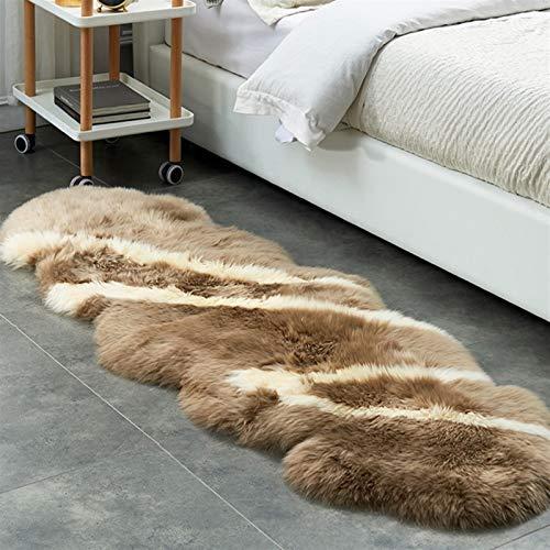 Altlue Lammfell Schaffell Teppich Bettvorleger Sofa Matte Echtes Naturfell Sitzfell Echtes Fell Teppich Ökologische Gerbung (Color : 1)