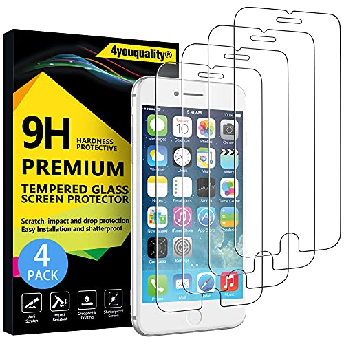 4youquality [4-Pack] iPhone 6 Plus / 6S Plus Screen Protector, Premium...