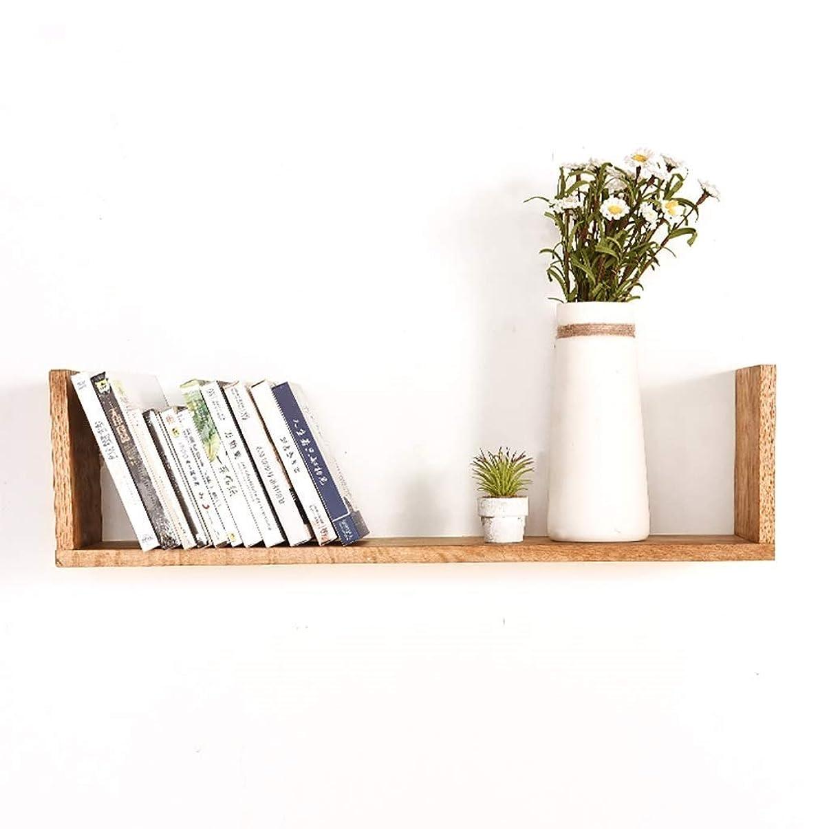 フェッチ無駄に浮く壁本棚セパレーターCDラックフローティングユニットフレーム木材壁棚壁収納ラック壁の装飾レトロなスタイル (Color : A, Size : 40cm)