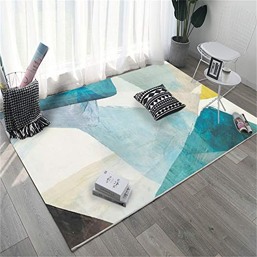 European-Style Modern Minimalist 3D Printed Carpet Non-Slip And Moisture-Proof Full-Shop Household Rectangular Floor Mats Living Room Bedroom Hotel Party Floor Mats