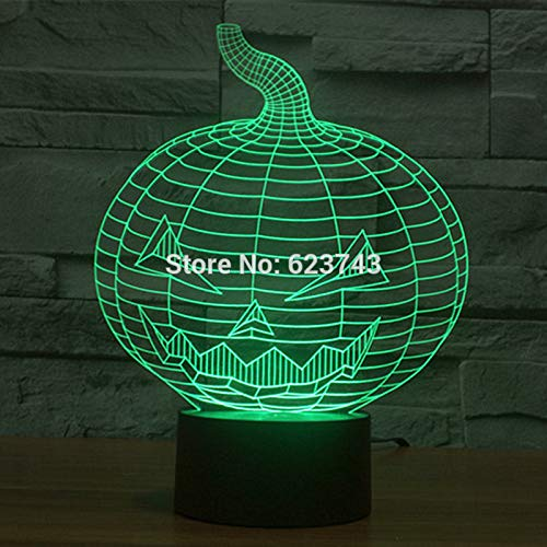 Halloween Evil Pumpkin Sleep 3D LED Night Light USB Table Lamp Kids birthday Gift Bedside home decoration