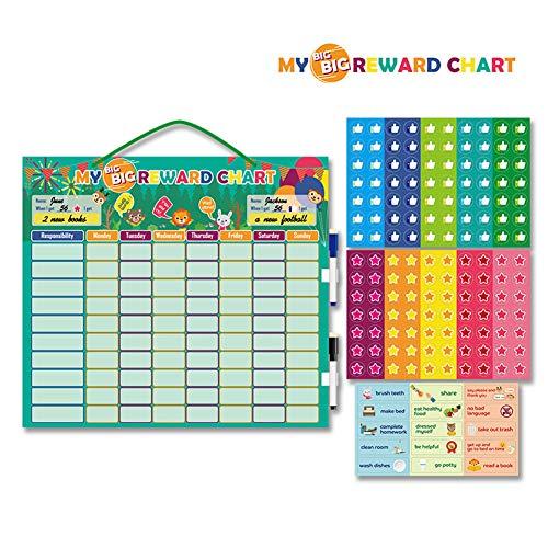 Belohnungstabelle Kids Chore Chart, Chore Chart für mehrere Kinder Tägliche Routine Good Behavior Charts Trocken löschbar für Kleinkinder zu Hause