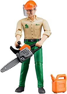 Bruder 60030 bworld Logging Man / Forestry Worker with Accessories