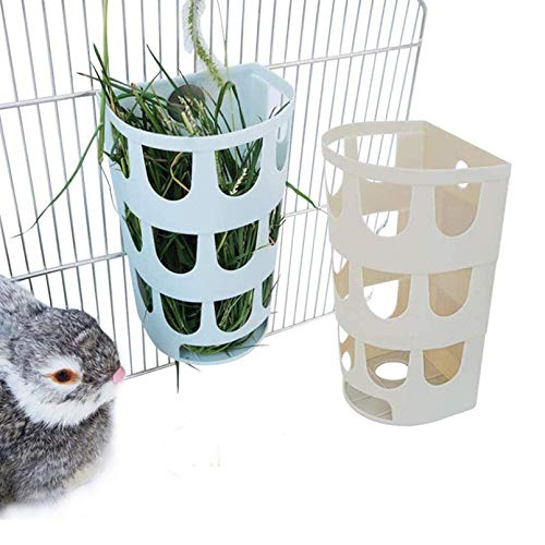 Hamiledyi Rabbit Hay Feeder,2Pcs Bunny Hanging Cage Manger Hay Holder Rack for Small Animal...