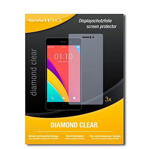 SWIDO 3 x Schutzfolie Oppo R5s Bildschirmschutz Folie DiamondClear unsichtbar