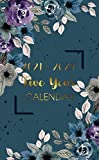 Pocket Calendar 2021-2025: Blue flower | Small 5 Years planner and mini monthly schedule organizer for personal time management
