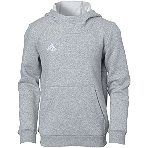 adidas Youth Core 15Sudadera con Capucha, S, Medium Grey Heather-White