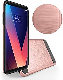 HTC One M9 Case, IDBI Ultra Thin Slim Armor Fit Shockproof Shock-Absorbent Scratch Resistant Protective Cover with Wire Drawing Impact Defender Rugged Process Case for HTC One M9 Rose Gold
