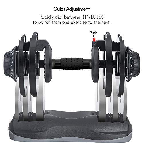 Merax Deluxe Adjustable Dial Dumbbell Review 8