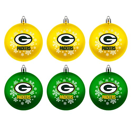 Green Bay Packers Boelter Brands NFL Weihnachtskugeln 6er-Set