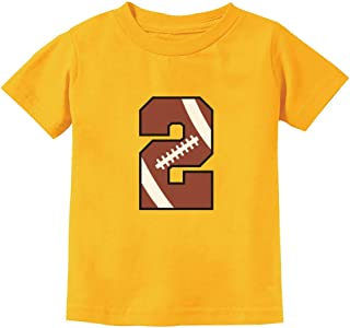 Gift for 2 Year Old 2nd Birthday Football Toddler Kids T-Shirt