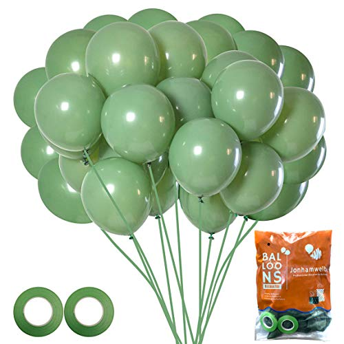 Sage Green Balloons Olive Green Balloons Eucalyptus Party Latex Balloon 70 Pack 12 Inch with Ribbon for Women Men Birthday Baby Shower Wedding Bridal Shower Party Decorations