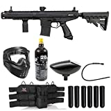 Maddog Tippmann Stormer Elite Dual Fed Titanium Paintball Gun Marker Starter Package - Black