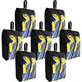 BeeGreen 7 Pack Black Shoe Bags with Double Zippers Travel Asscesories for Travel Shoe Organizer Bags Transparent Women &Men