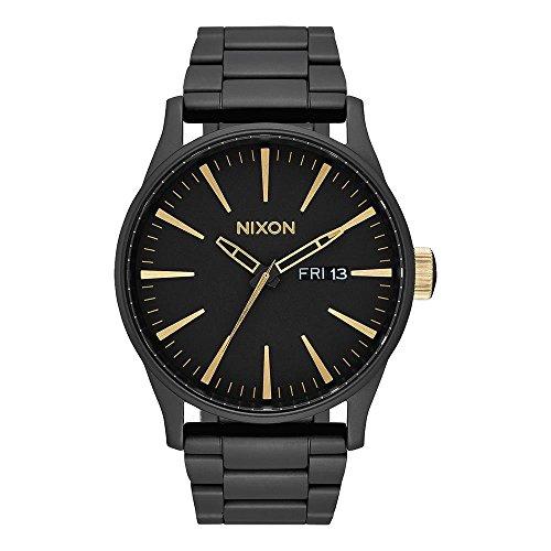Nixon Armbanduhr Sentry Edelstahl Matte Black / Gold
